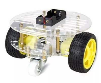 Kit Chassi 2WD Robô para Arduino (Modelo 2)
