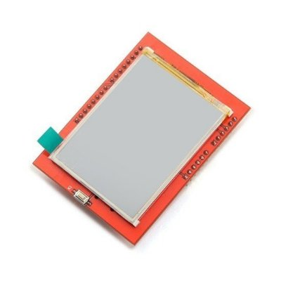 "Display LCD TFT 2.4"" Touchscreen Shield para Arduino + Caneta"