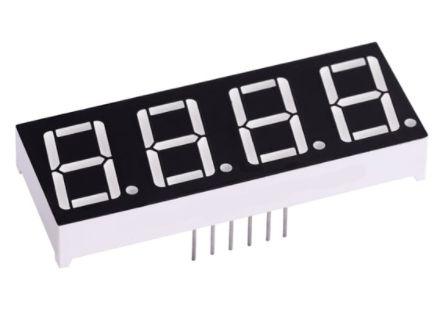 Display de 7 segmentos com 4 Dígitos - Anodo Comum
