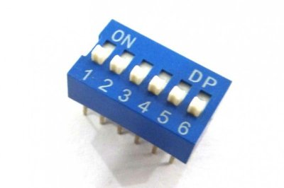 Chave DIP Switch 6 Vias