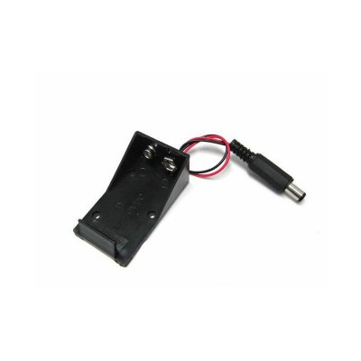Suporte para Bateria 9V com saída P4 (Case para bateria 9V)