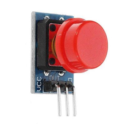 Módulo Interruptor Botão 12x12 com Capa Vermelha