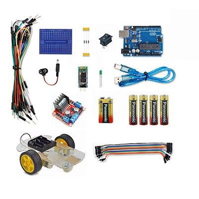 Kit Arduino Robô controlado por APP Bluetooth (Android)