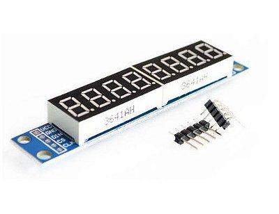 Módulo Display de 7 segmentos com 8 Dígitos - MAX7219
