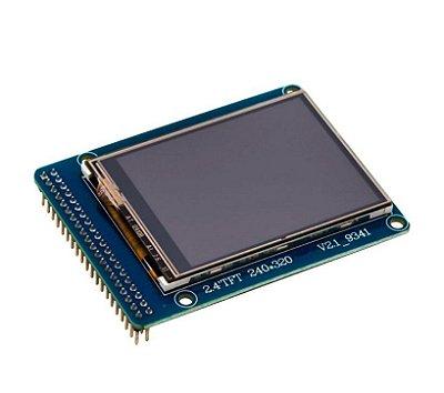 """Display LCD TFT 2.4"""" - Entrada para Cartão SD"""