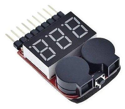 Alarme de Bateria Li-po Buzzer e Teste de Li-po - 1s á 8s