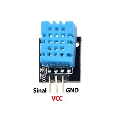 Módulo Sensor De Umidade e Temperatura DHT11 - sem Led
