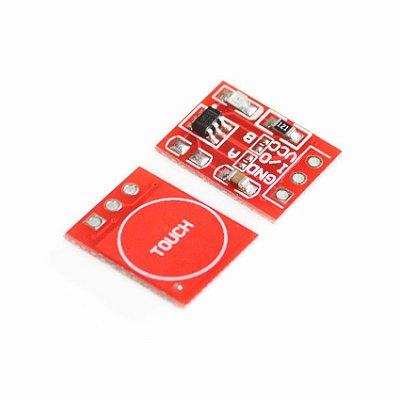 Módulo Sensor Touch Capacitivo TTP223B Vermelho