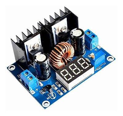 Módulo Regulador de Tensão 4-40V 8A Step-Down c/ Display - XL4016