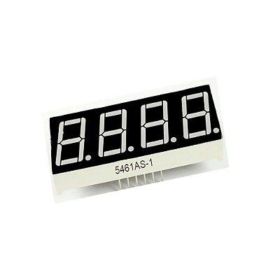 Display de 7 segmentos com 4 Dígitos - Catodo Comum