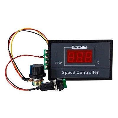 Controlador de Velocidade 6-60V 20A PWM - com Display