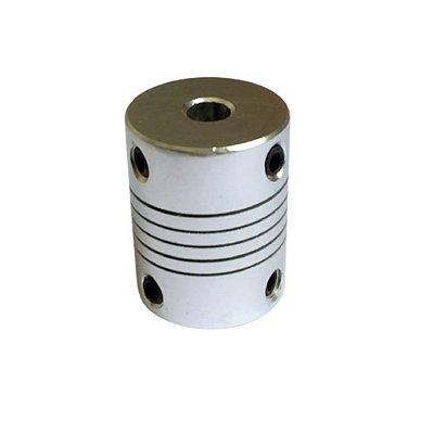 Acoplamento Flexível CNC para Motor de Passo - Eixo 5x5mm em Alumínio