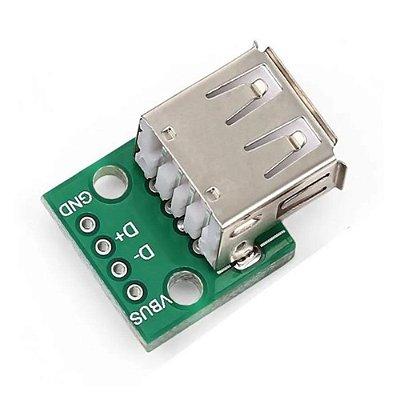 Módulo Adaptador USB Fêmea 2.0 para DIP
