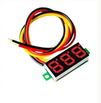 Voltímetro Digital - 3 Digitos - 3 Fios