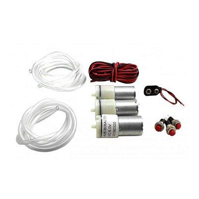 Kit Mini Bomba de Ar Motor - Baixo Ruído