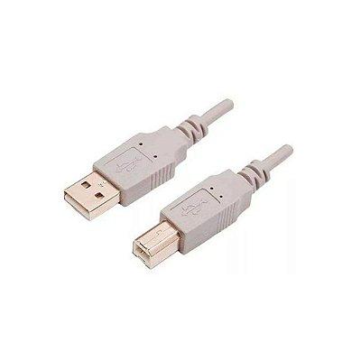 Cabo USB 2.0 - A/B - 1,5M - Cinza