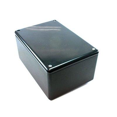 Caixa Plástica para Montagem 200mm X 120mm X 75mm - Preta