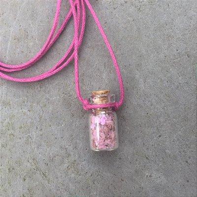 Mini Colar Bioglitter Rosa