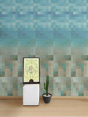 Papel de Parede Adesivo Pixel Rio