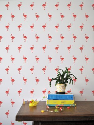 Kit de Adesivos de Parede Flamingo