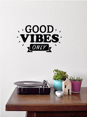 Adesivo de parede Frase Good Vibes Only