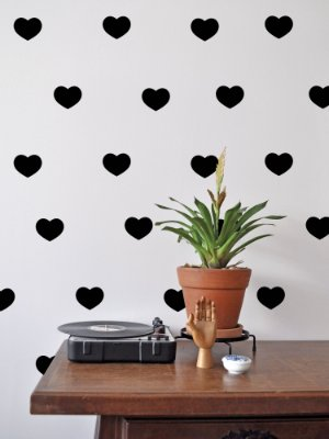 Kit de Adesivos de Parede Coração