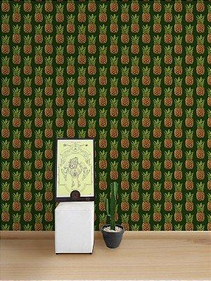 Papel de Parede Adesivo Abacaxi Verde
