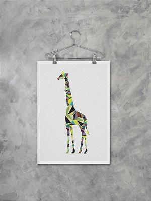 Poster Girafa Geométrica