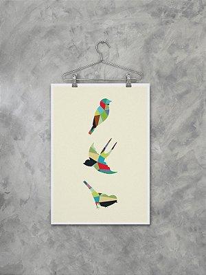Poster Pássaros Geométricos
