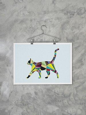 Poster Geométrico Gato