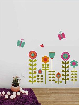 Adesivo de parede Jardim Encantado