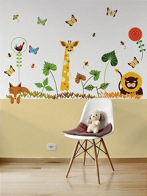 Adesivo de parede infantil Animais Selvagens