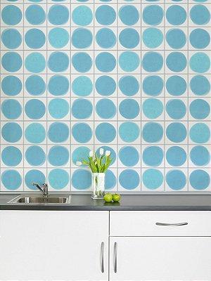 Adesivo de azulejo Manchas Azul