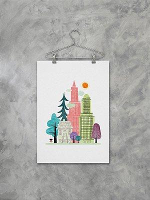 Poster Cidade Colorida