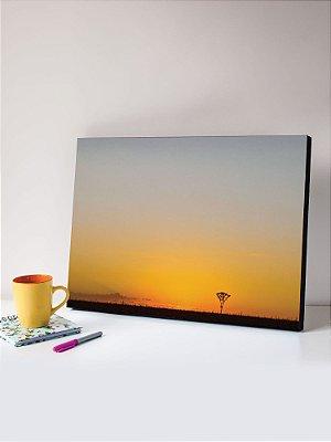 Quadro MDF Foto Árvore pôr-do-sol