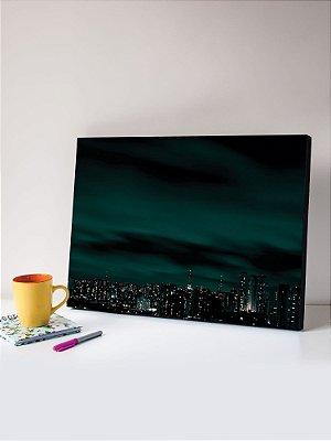 Quadro MDF Foto Skyline Noturno
