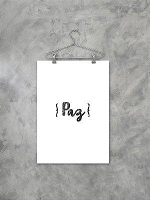 Poster Paz