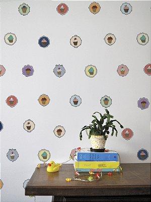 Adesivo de parede Cupcakes