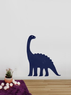 Adesivo de parede lousa Dinossauro Braquiossauro
