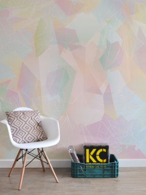 Painel Papel de Parede Adesivo Cristal Rosé Quartz