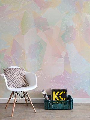 Mural Papel de Parede Adesivo Cristal Rosé Quartz