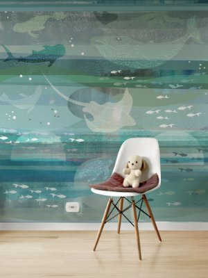 Painel Papel de Parede Adesivo Mar