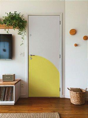 Adesivo para porta circular amarelin