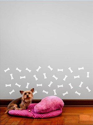 Kit de Adesivos de Parede ossinho de cachorro