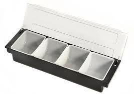 Porta Condimentos Com 4 Divisórias Para Frutas Bar - TableCraft