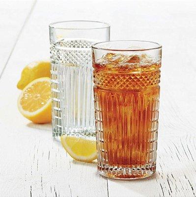 Copo Long Drink Radiant 470 ml - Vidro Temperado -  Libbey