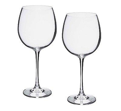 Taça Vinho Bohemia Grand Sommelier  Cristalc/titânio 850 ml cx c/ 2 pç