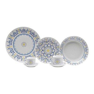 Aparelho de Jantar Lyor Super White Porcelana 42 Peças 68270