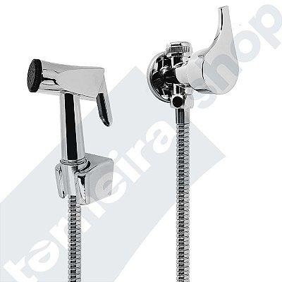 Ducha Higiênica Completa Metal C/ Saída Integrada Derivação P/ Caixa Acoplada C10