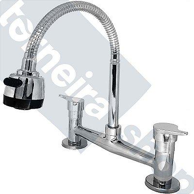 Misturador de Cozinha Mesa Gourmet C/ 02 Entradas de Água Modelo C10